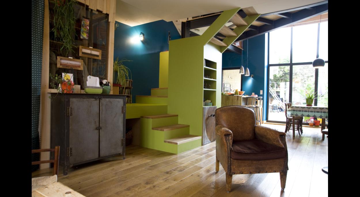 Réhabilitation d'une maison à Clisson. architecte : ATELIER 14 (CLISSON)