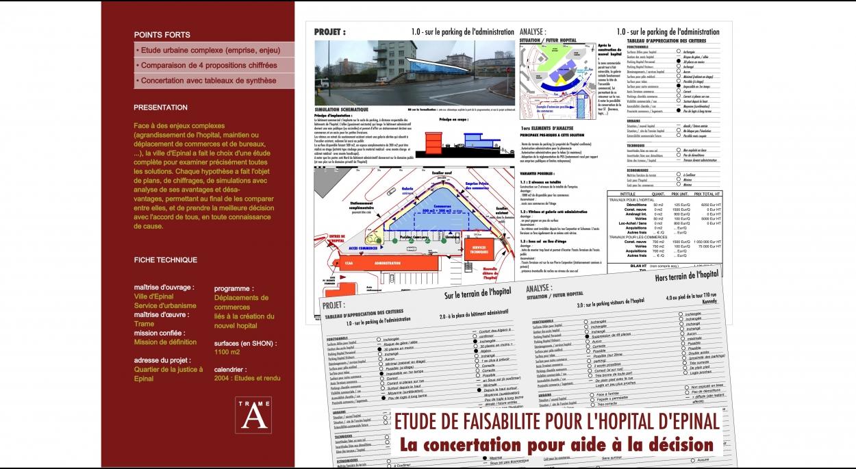 Etude comparative pour l'hôpital d'Epinal