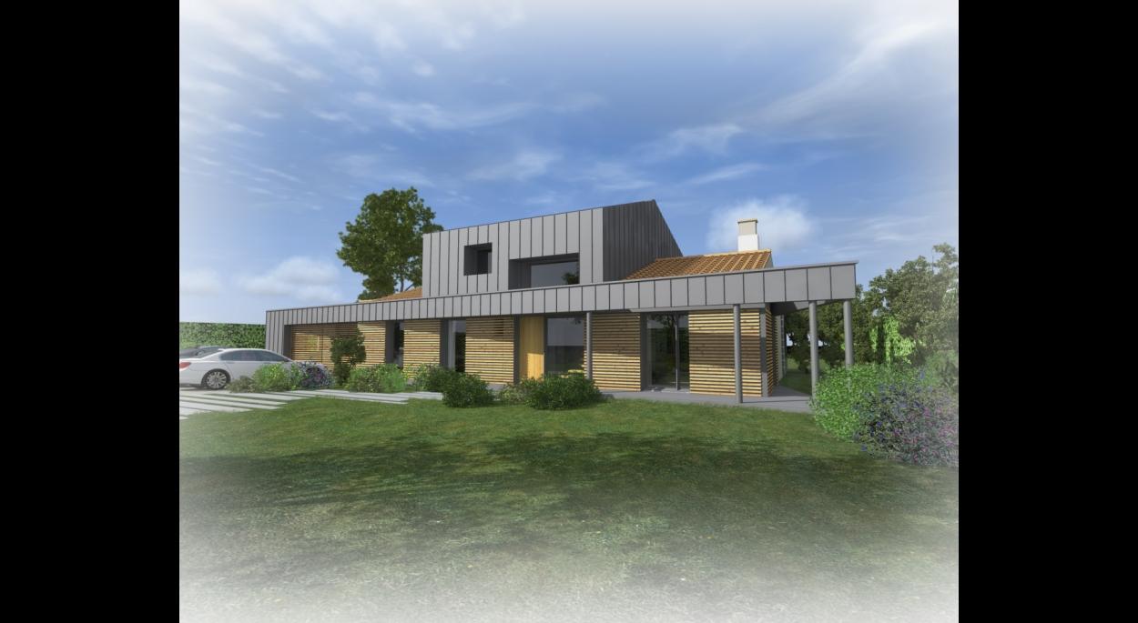 Réhabilitation d'une maison à Basse-Goulaine. architecte : ATELIER 14 (CLISSON)