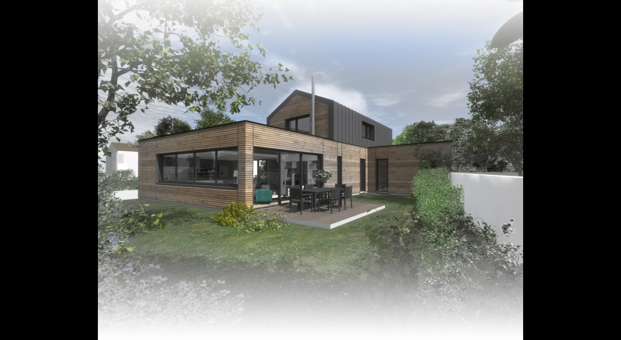 Construction d'une maison à NANTES. architecte : ATELIER 14 (CLISSON)