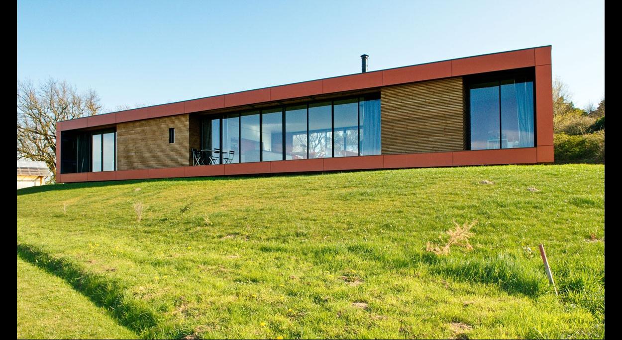 maison écologique bois & paille - echalas | gallet architectes