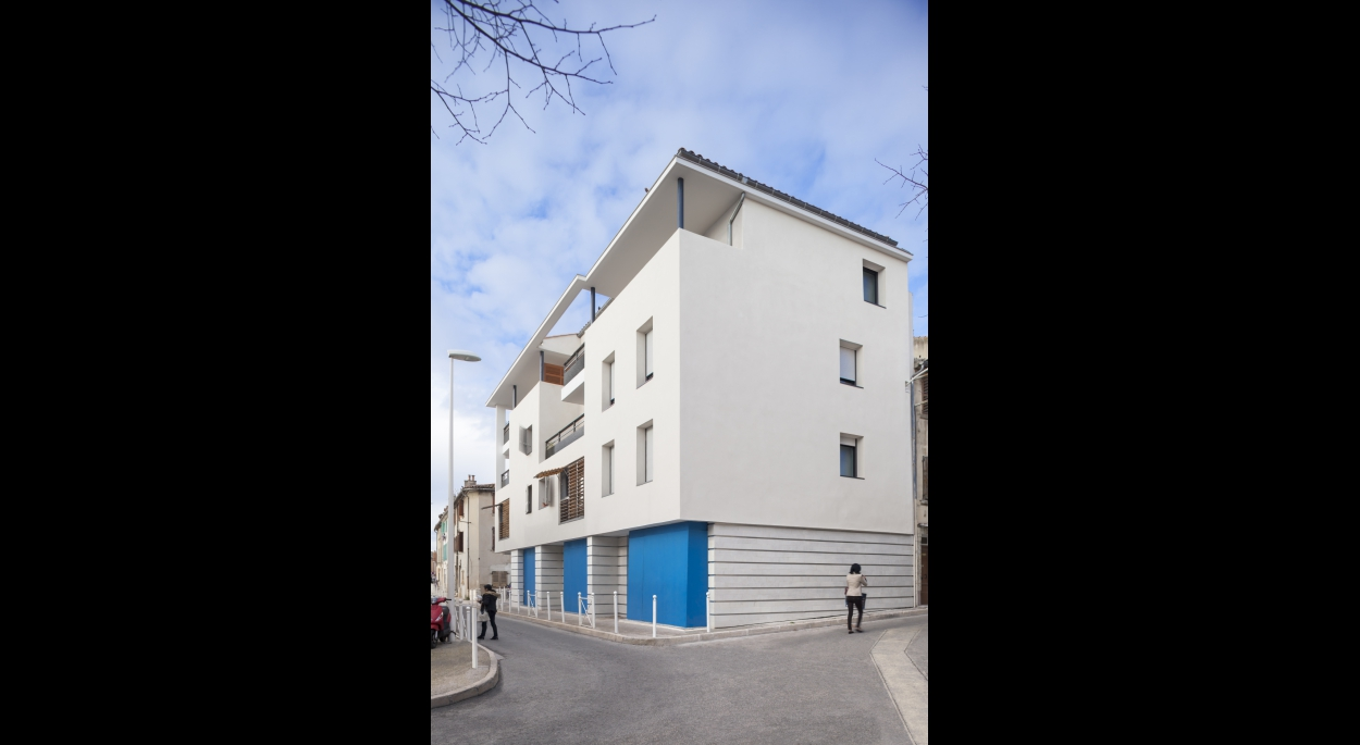 immeuble d'angle rue Caillet