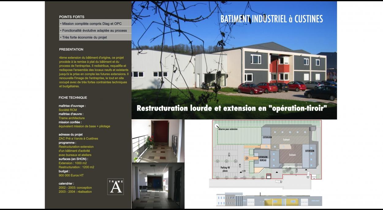Restructuration Extension d'un Bâtiment Industriel  à Custines