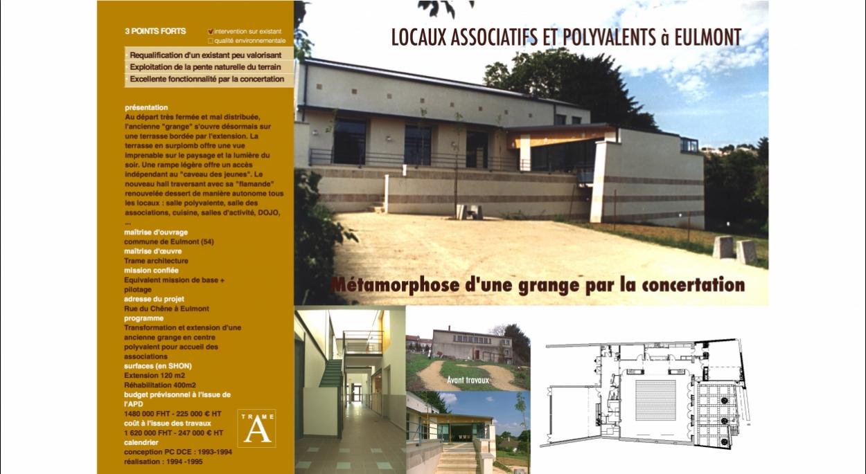 Restructuration Extension d'un centre polyvalent en concertation