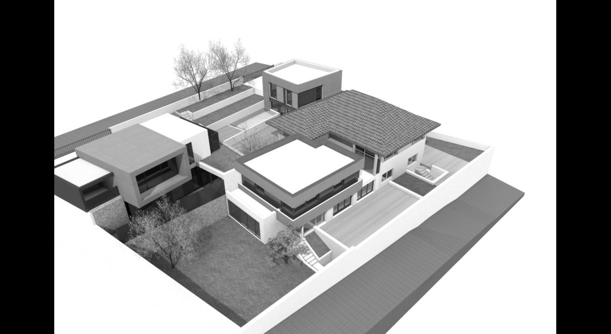 restructuration et extension d'une villa en lots de copropriété