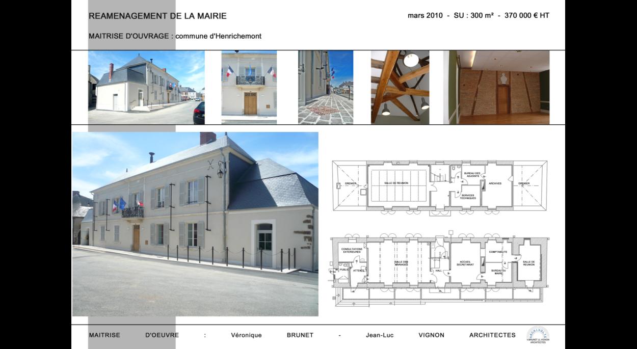 Réaménagement de la Mairie, Henrichemont (18)