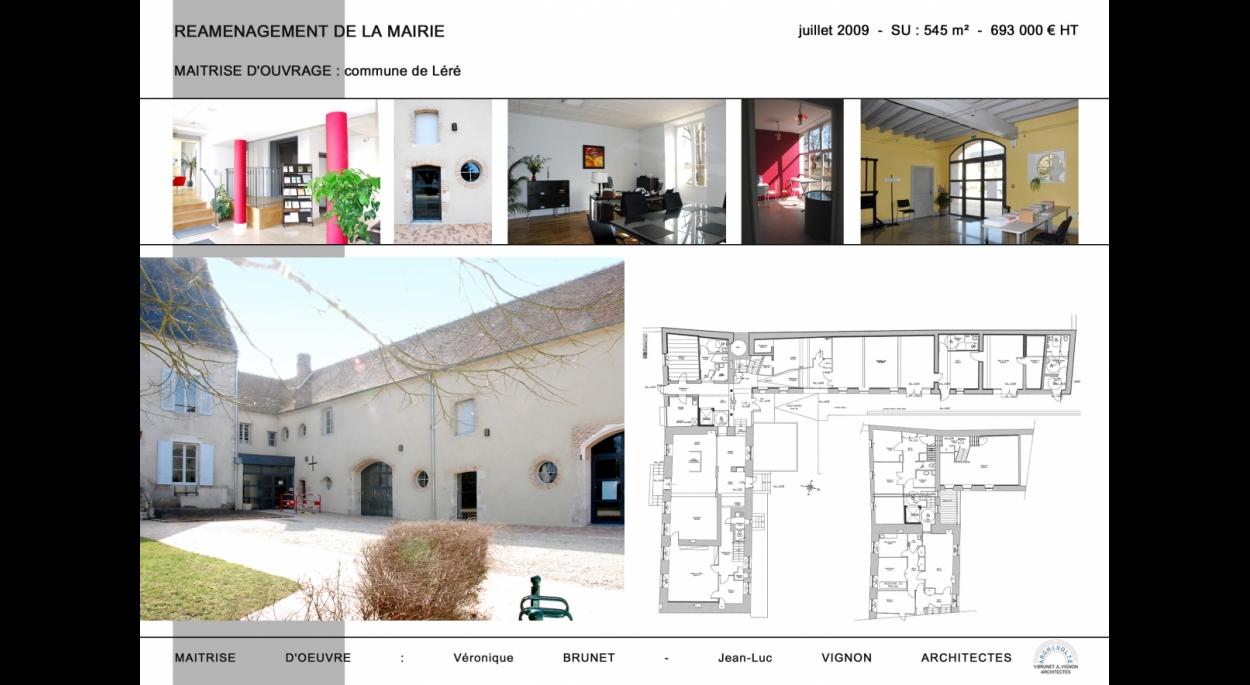 Réaménagement de la Mairie, Léré (18)