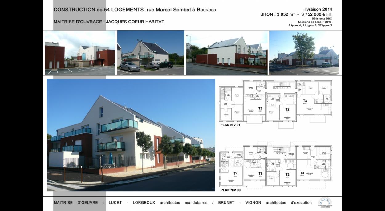 Construction de 54 logements, rue Marcel Sembat, Bourges (18)