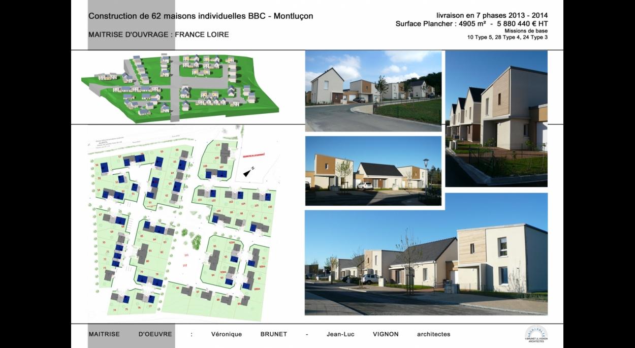 Construction de 62 maisons indivuduelles BBC, Montluçon (03)