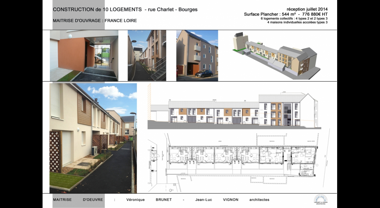 Construction de 10 logements, rue Charlet, Bourges (18)
