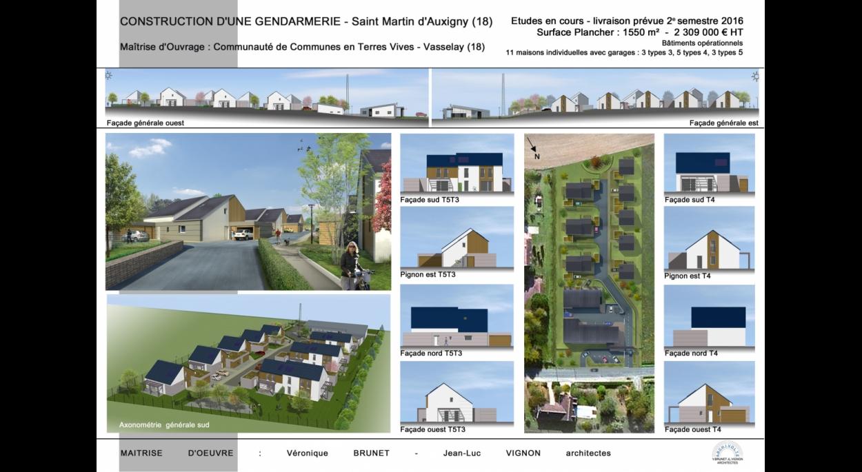 Construction de 11 maisons individuelles, Saint Martin d'Auxigny (18)