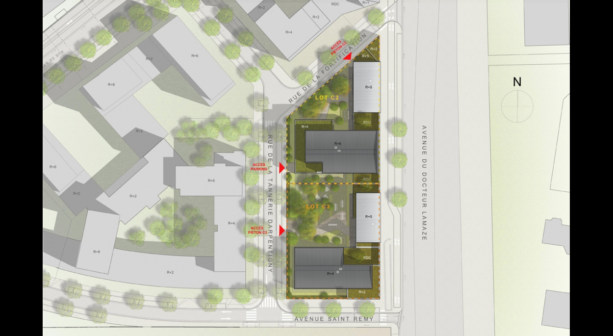 250 logements en résidences sociale et étudiante en conception - réalisation à Saint Denis (93)