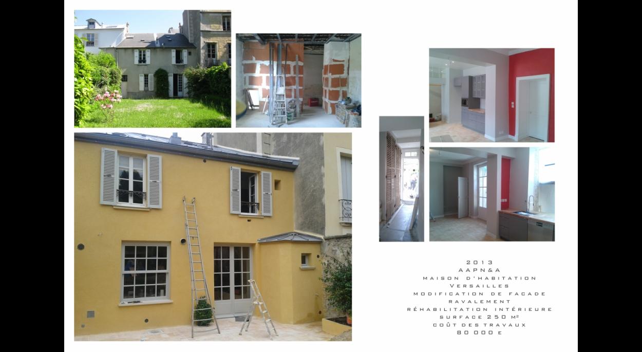 Architecte, Versailles, ravalement, réhabilitation, maison