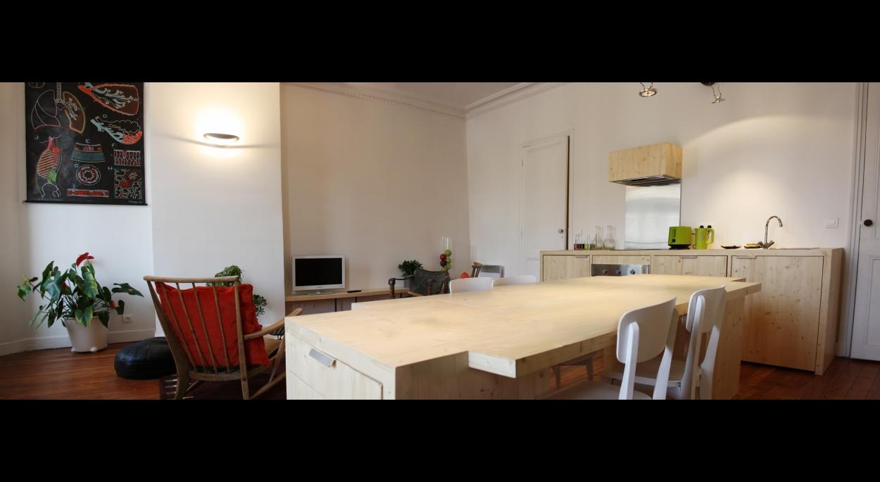 salon / cuisine /salle à manger