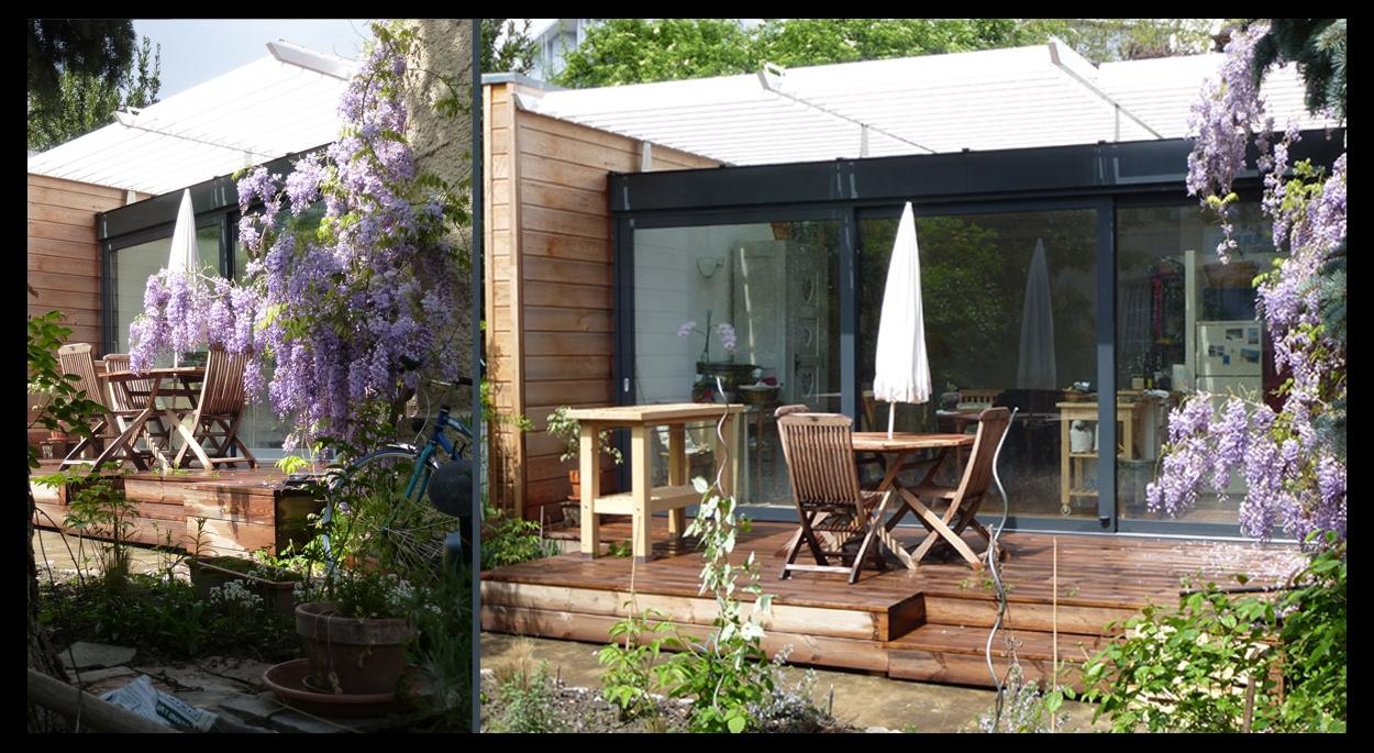 Projet d'extension en ossature bois d'une petite maison de ville à Grenoble
