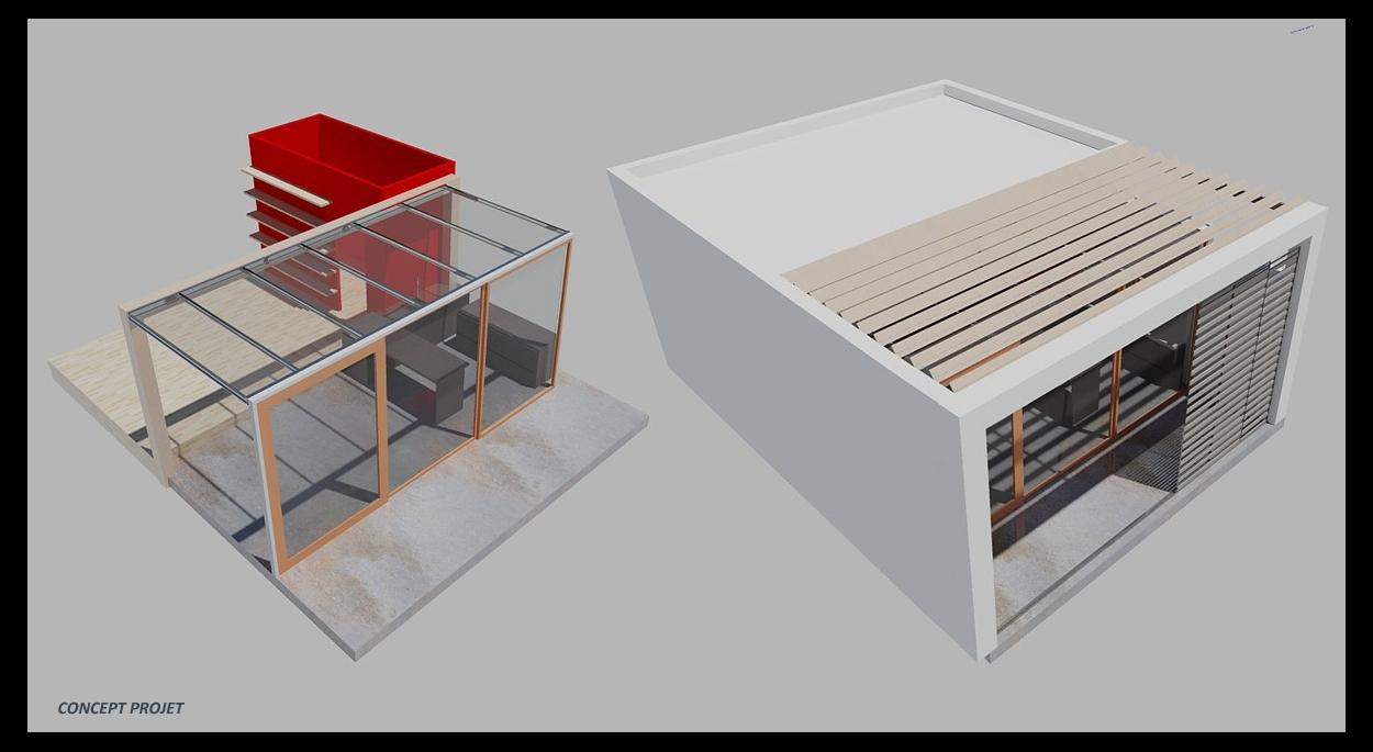 Vue perspective du projet en phase conception