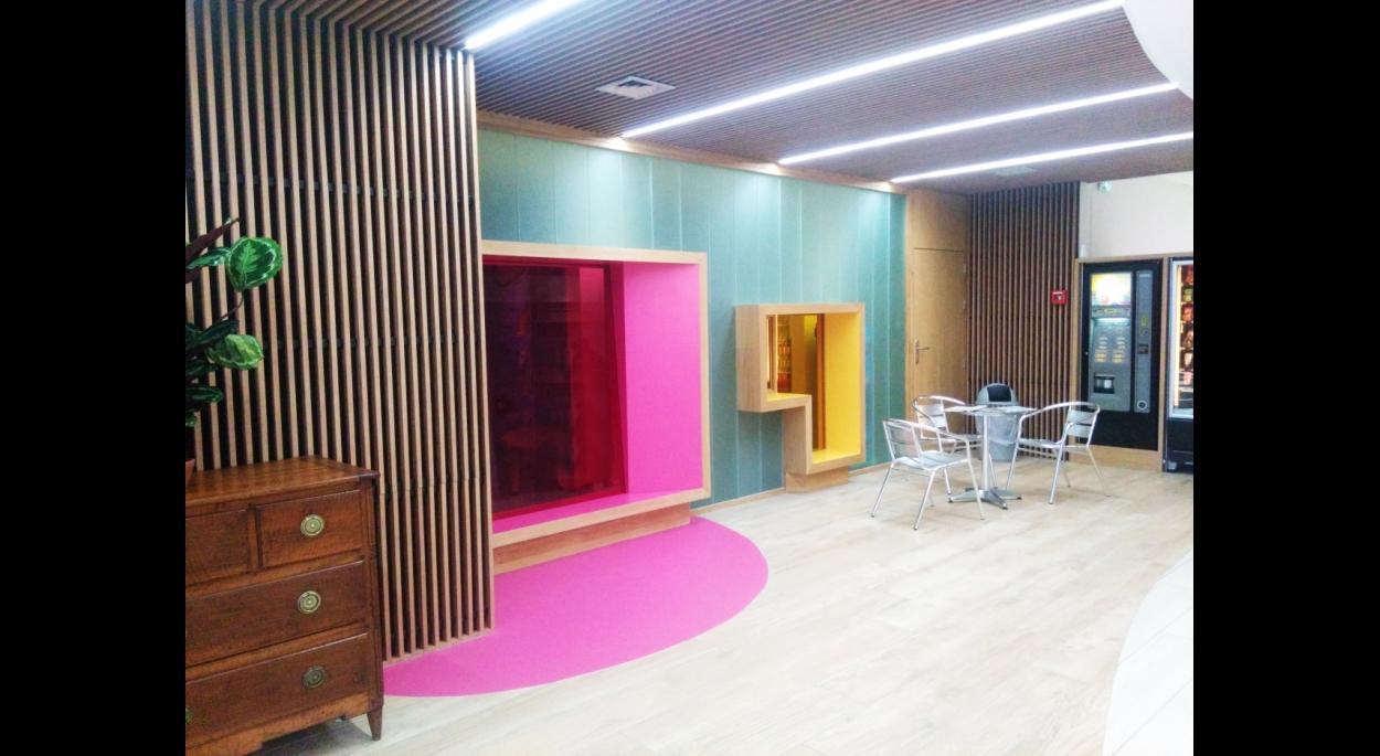 Photographie du Hall de l'EHPAD après rénovation