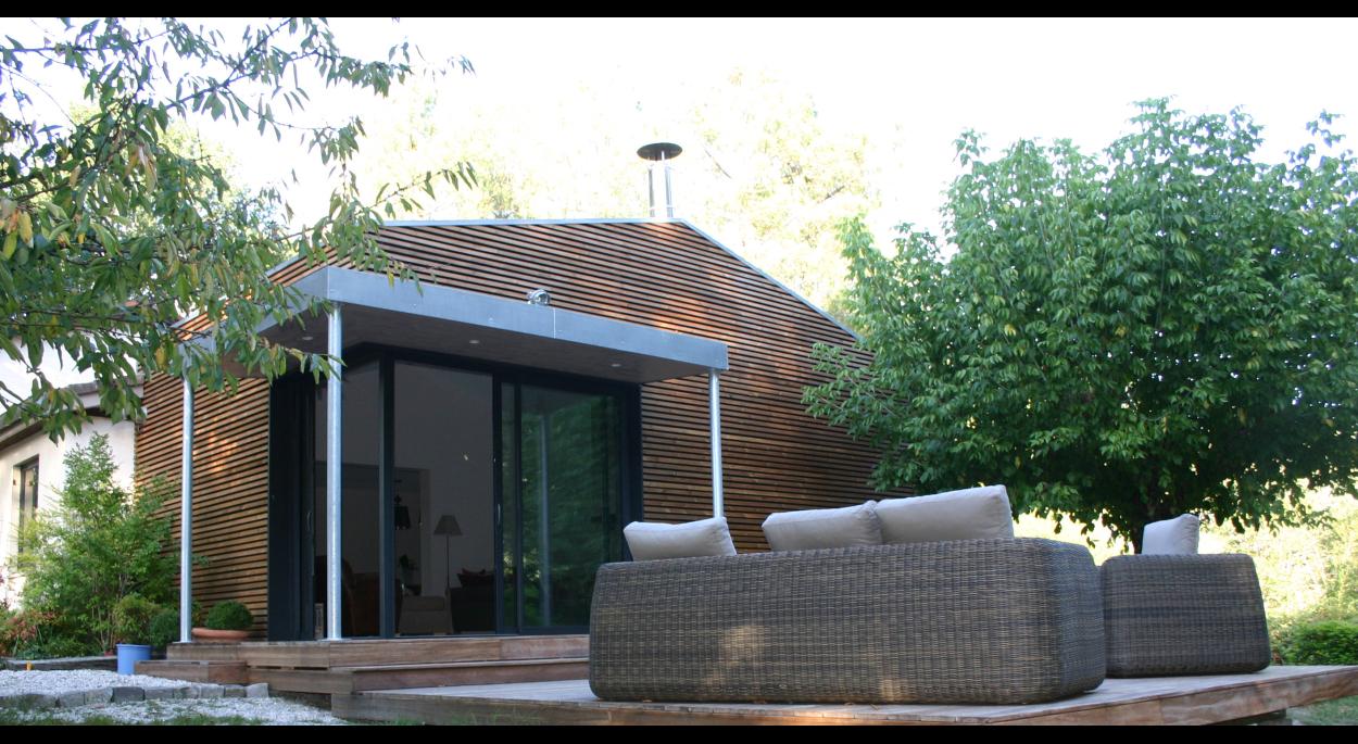 Extension d'une maison d'habitation en ossature bois @atraits