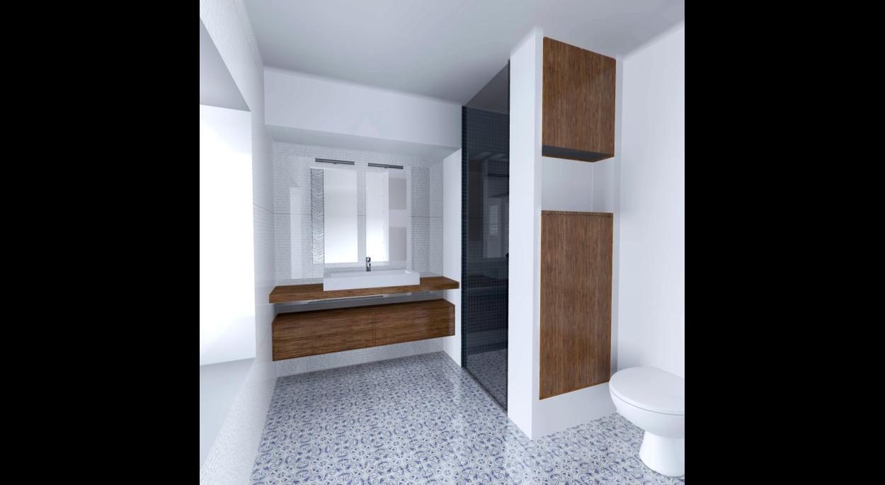 Perspective de la salle de bain