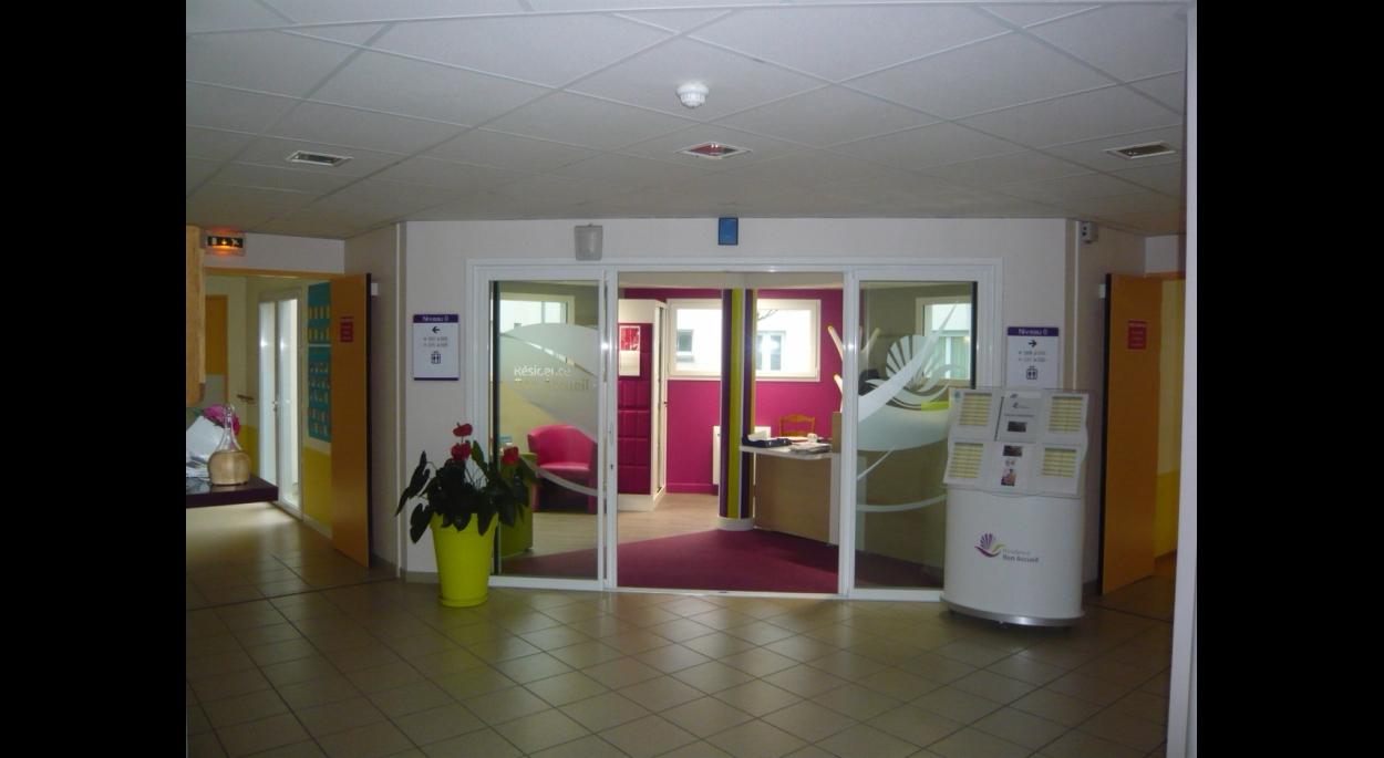 Vue espace accueil depuis hall d'entrée