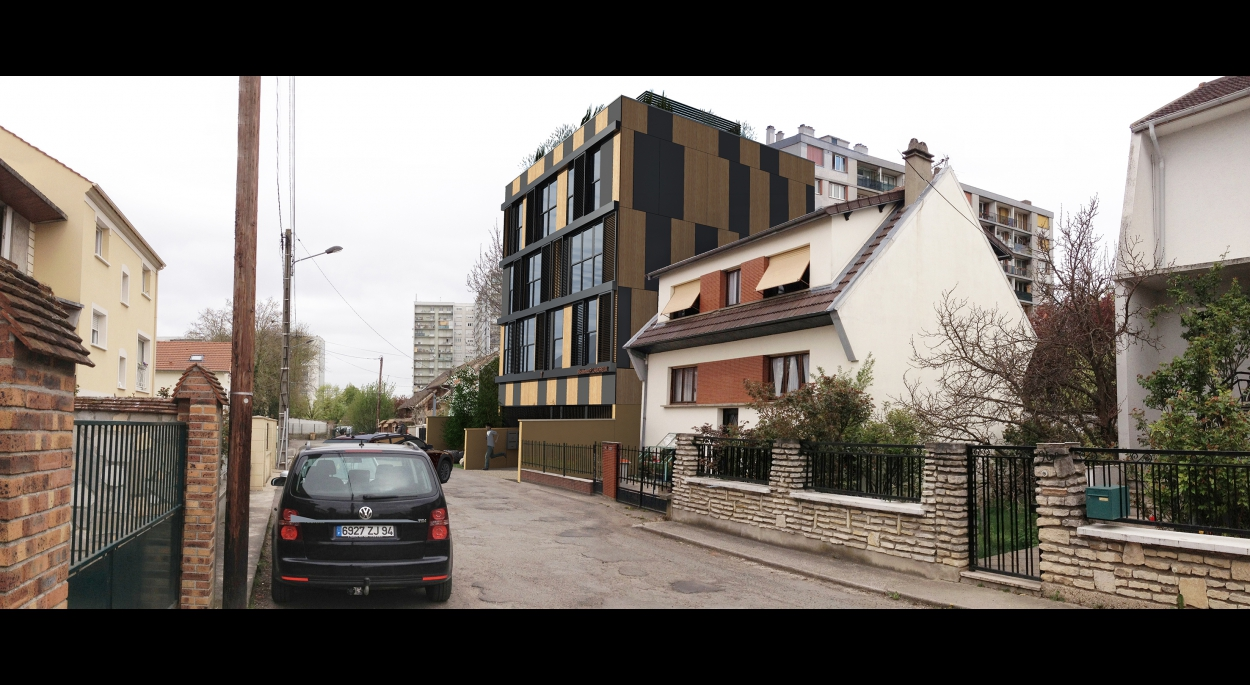 Logements Collectifs à Vitry-sur-seine, Insertion paysagère