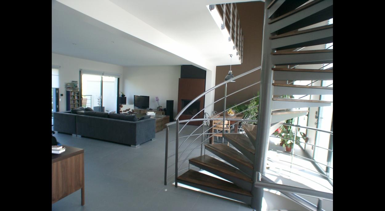 Maison Individuelle à Gournay, Salon et Séjour