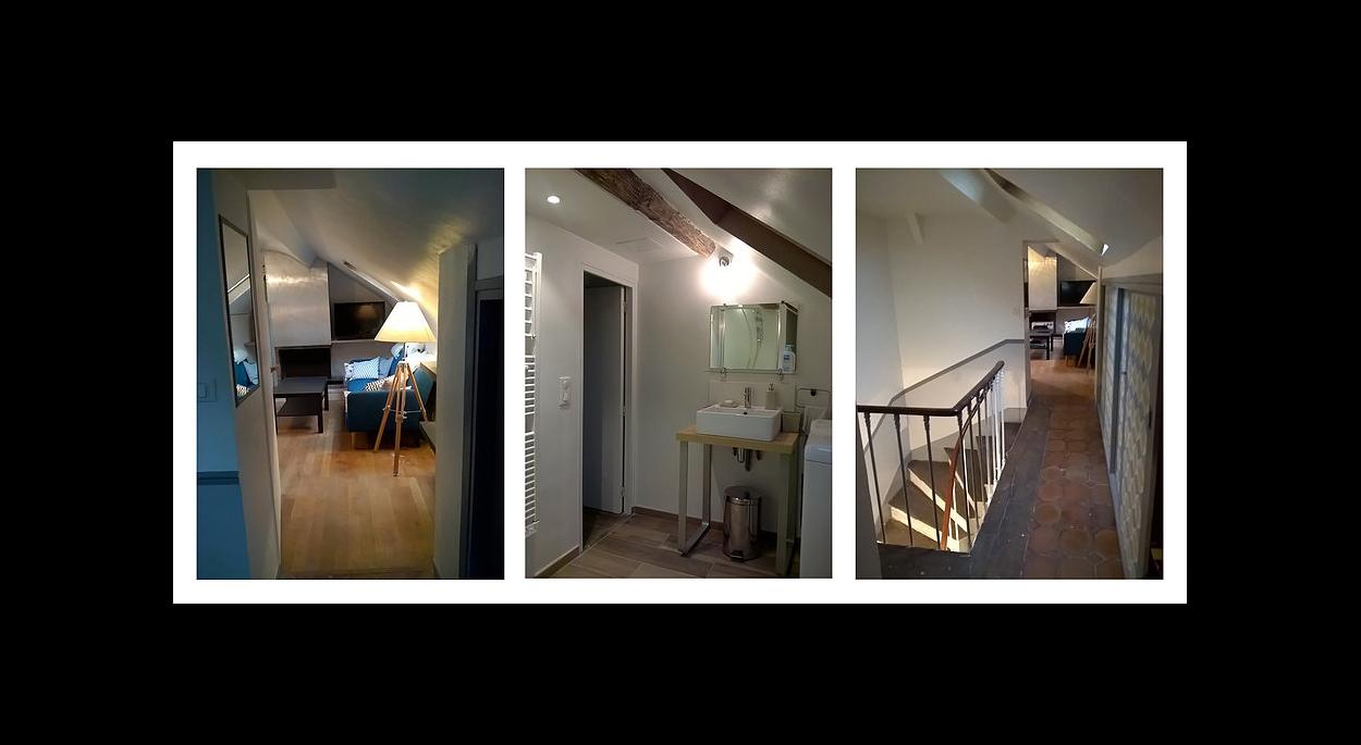 Réhabilitation d'un appartement de 50m² sous combles - venez voir la suite sur www.atelierbplus.fr !