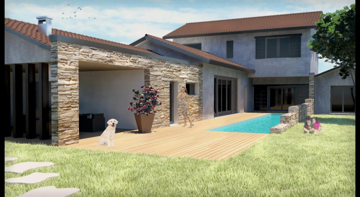 image 3D projet villa veuve