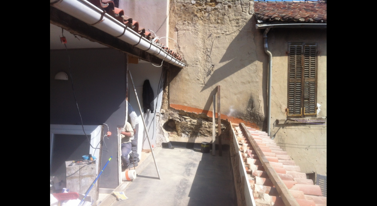 Terrasse en chantier