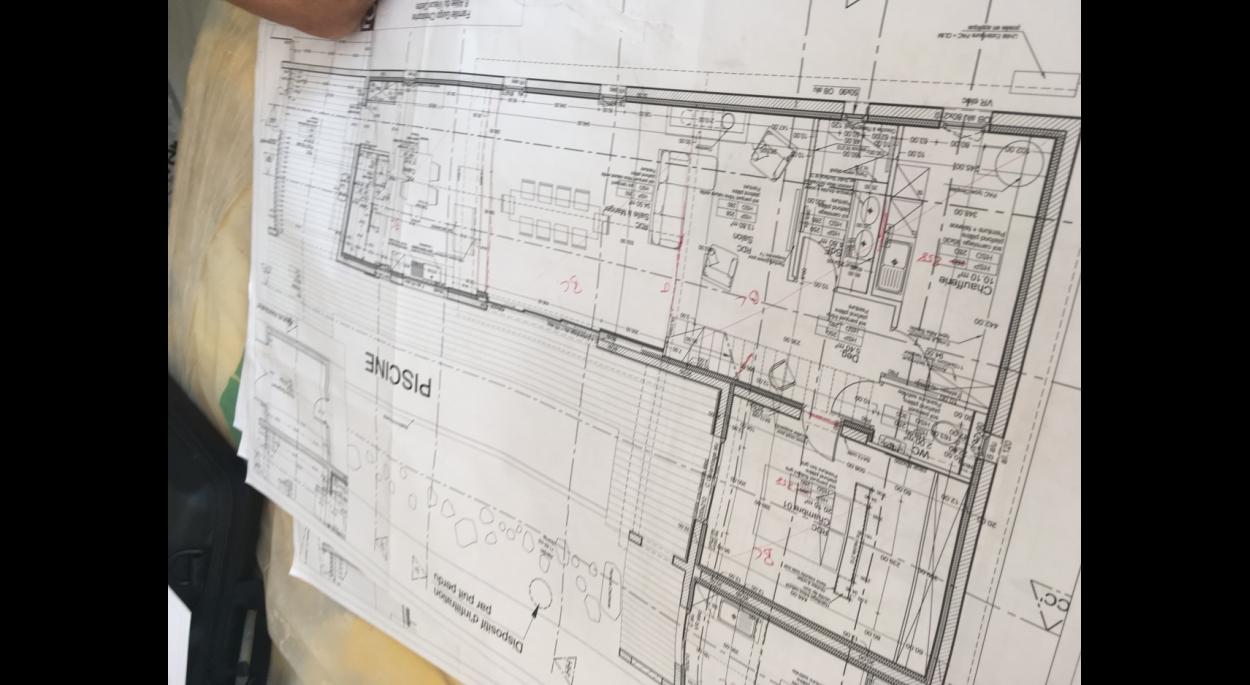 plan DCE du RDC de la villa