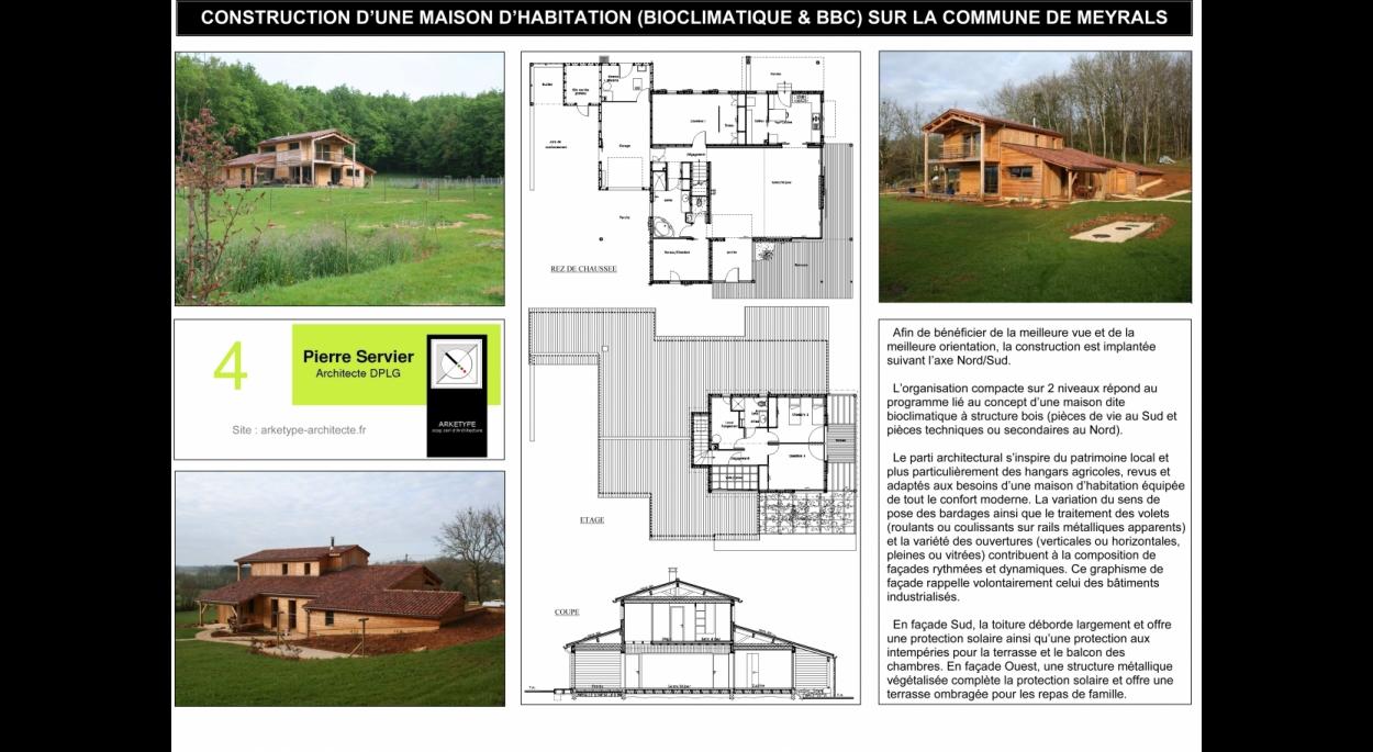 CONSTRUCTION D'UNE MAISON D'HABITATION (BIOCLIMATIQUE & BBC) SUR LA COMMUNE DE MEYRALS