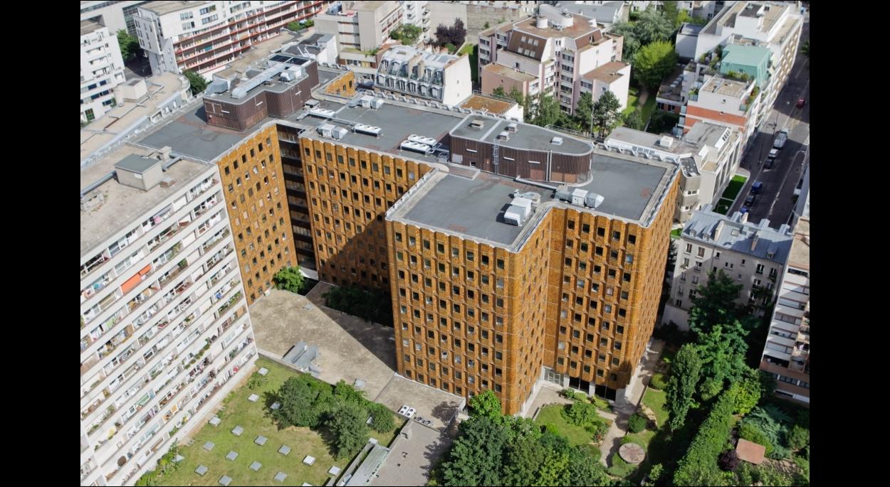 Spectaculaire ré-architecture de bureaux à Paris 13ème - façades initiales