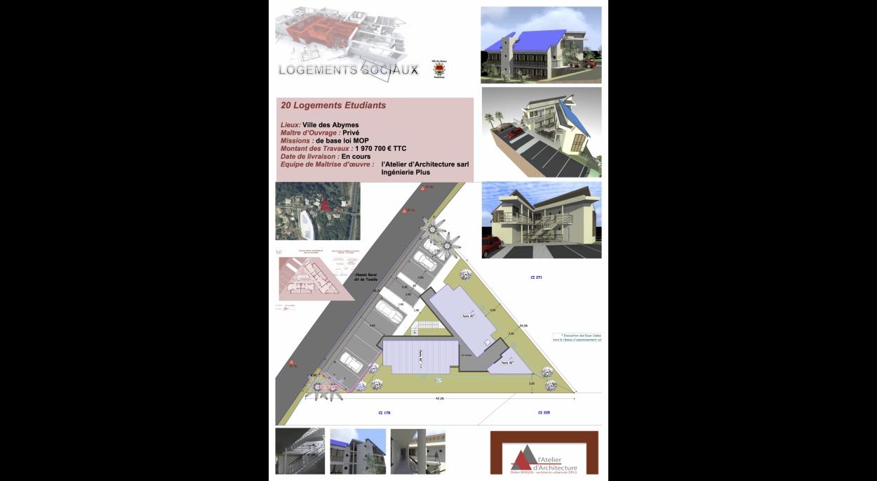 20 logements pour étudiants aux Abymes