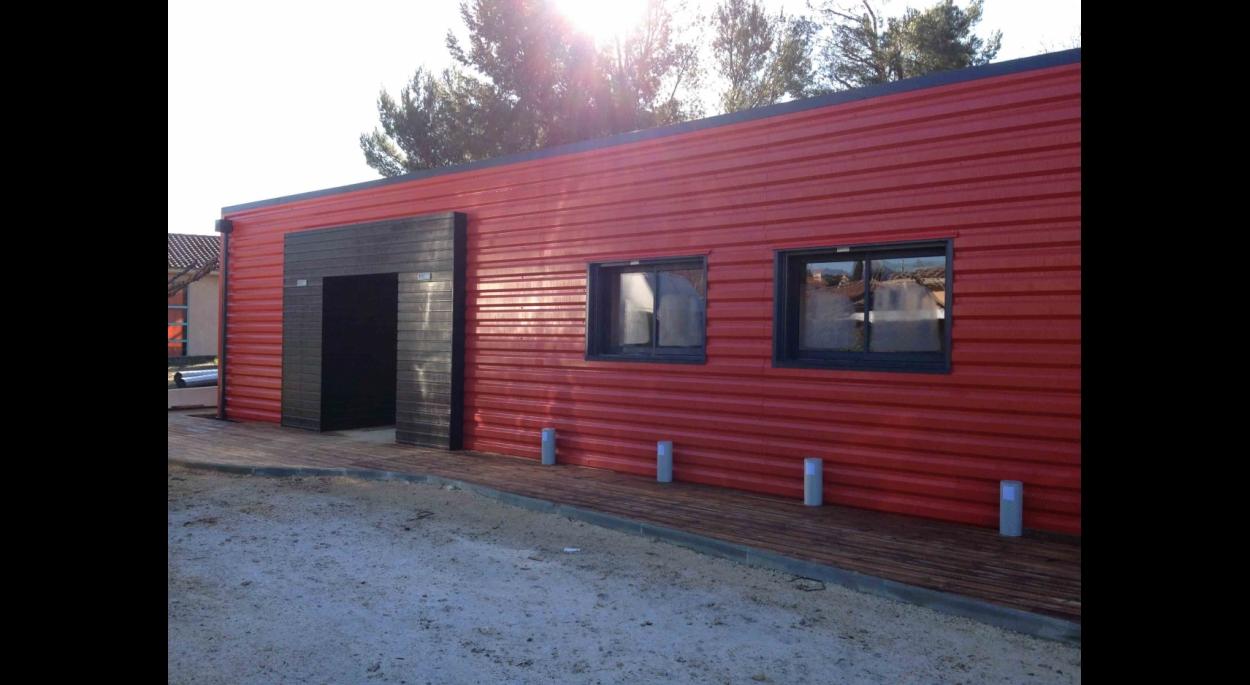 Le projet final maison de quartier à La Penne sur Huveaune * ossature bois et bardage métal