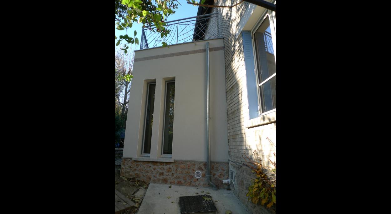 extension, maison, Meudon, entrée, fenêtres, meurtrières