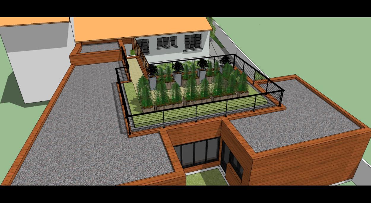 Vue toiture terrasse accessible
