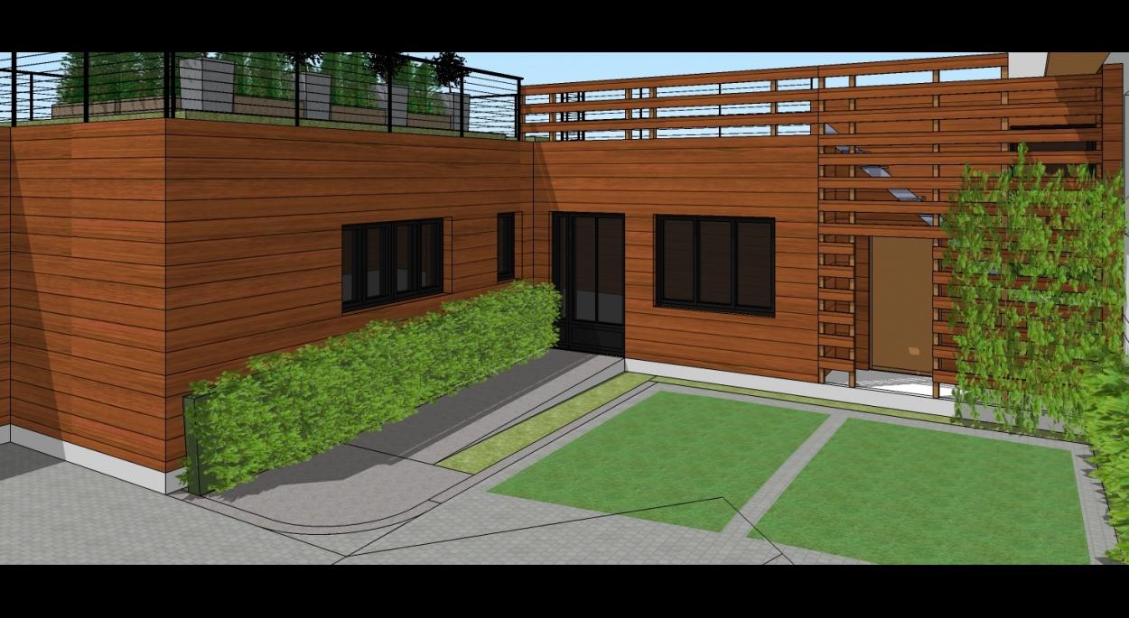 Vue patio intérieur 2