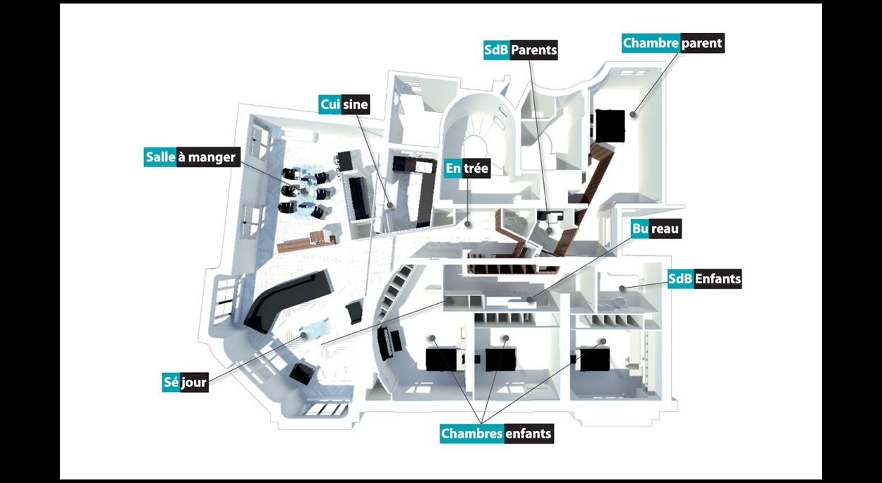 Rénovation complète d'un appartement à Paris (12ème) - Plan