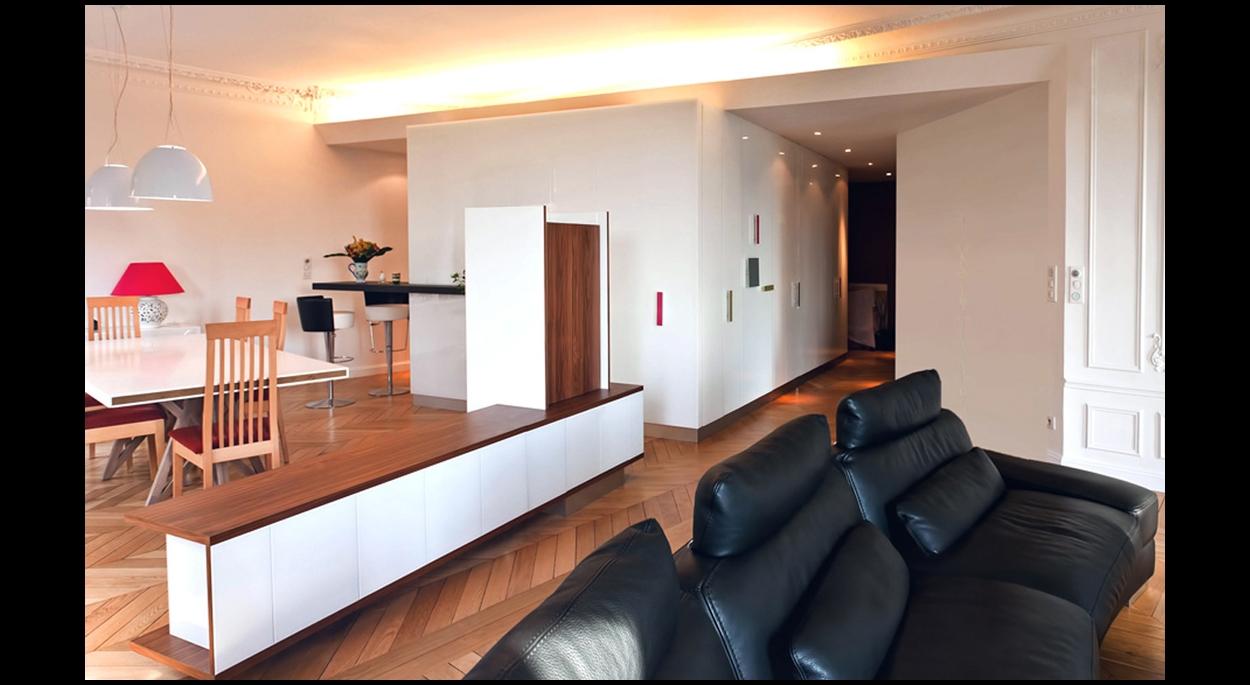 Rénovation complète d'un appartement à Paris (12ème) - Séjour