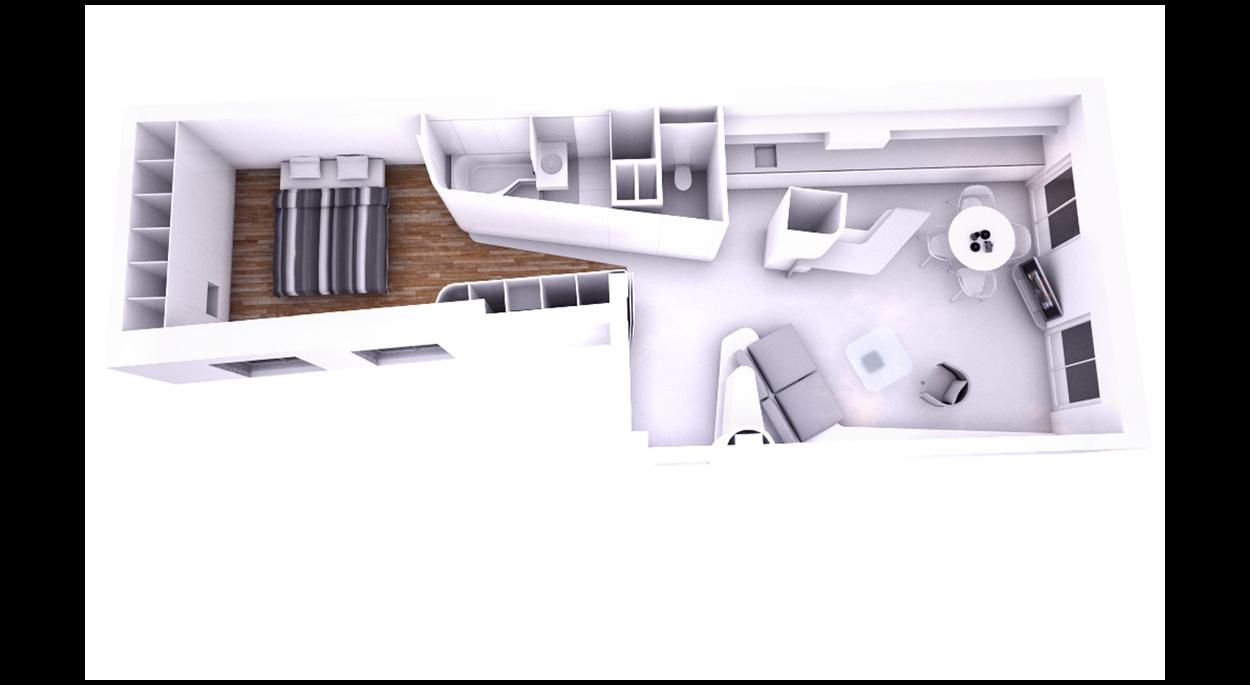 Rénovation complète d'un appartement dans le Marais à Paris - Plan
