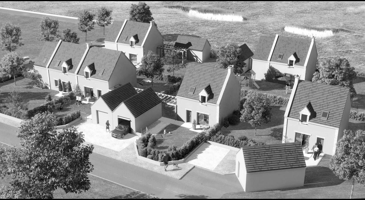 Hameau de Thoville - Volumétrie du hameau