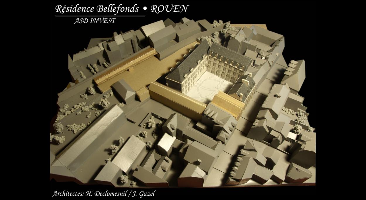 Bellefonds- La maquette de travail