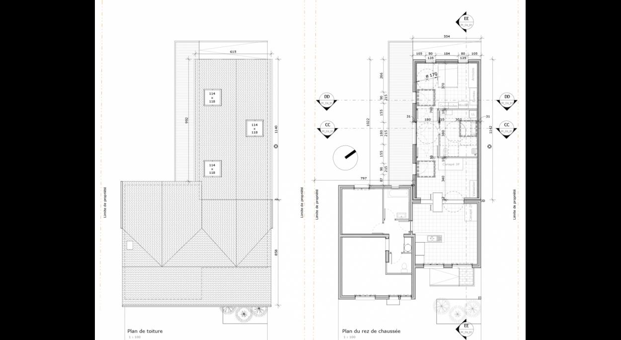 Plans de la future extension