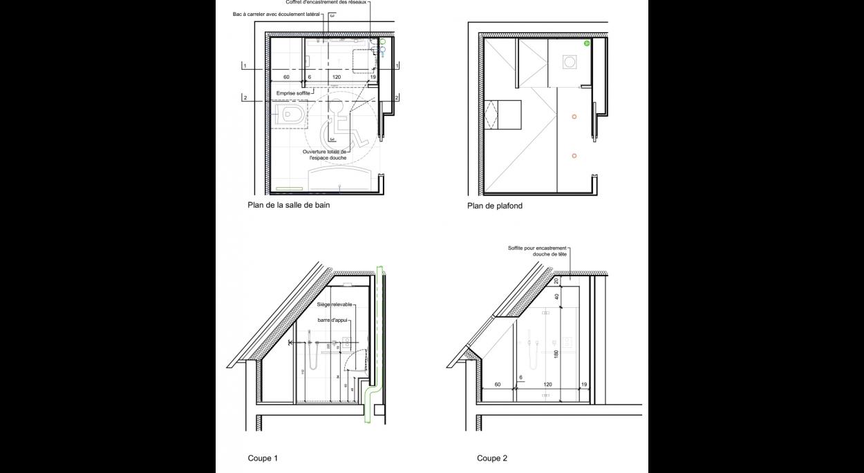 Plans d'aménagement de la salle d'eau