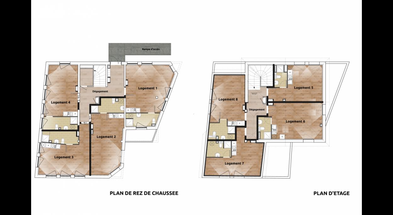 Plan de Rez de Chaussée et d'Etage