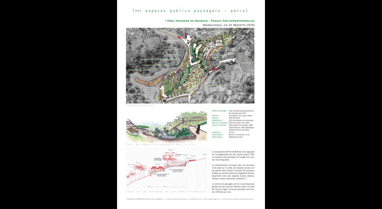 Parc paysager de Batrolo - phases pré-opérationnelles