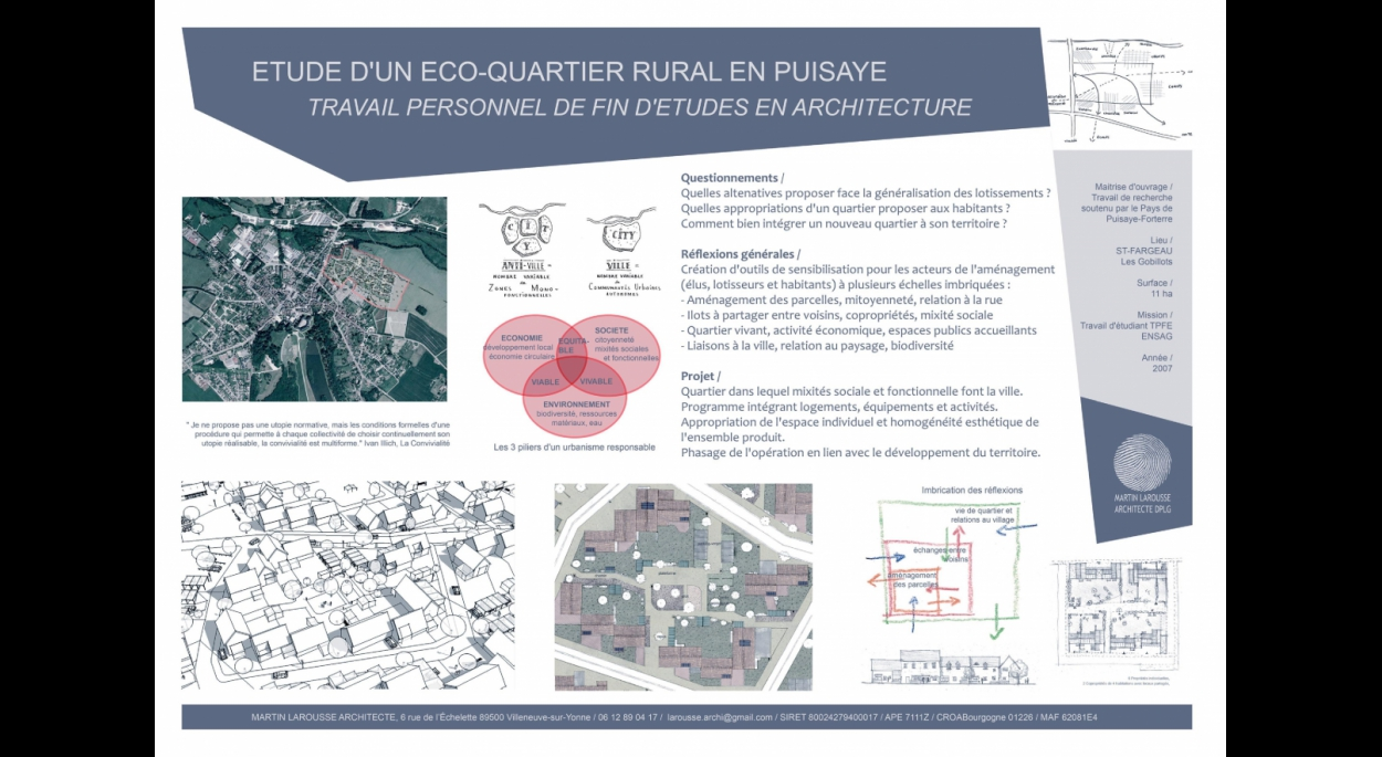 Eco-quartier ruralité urbanime doux