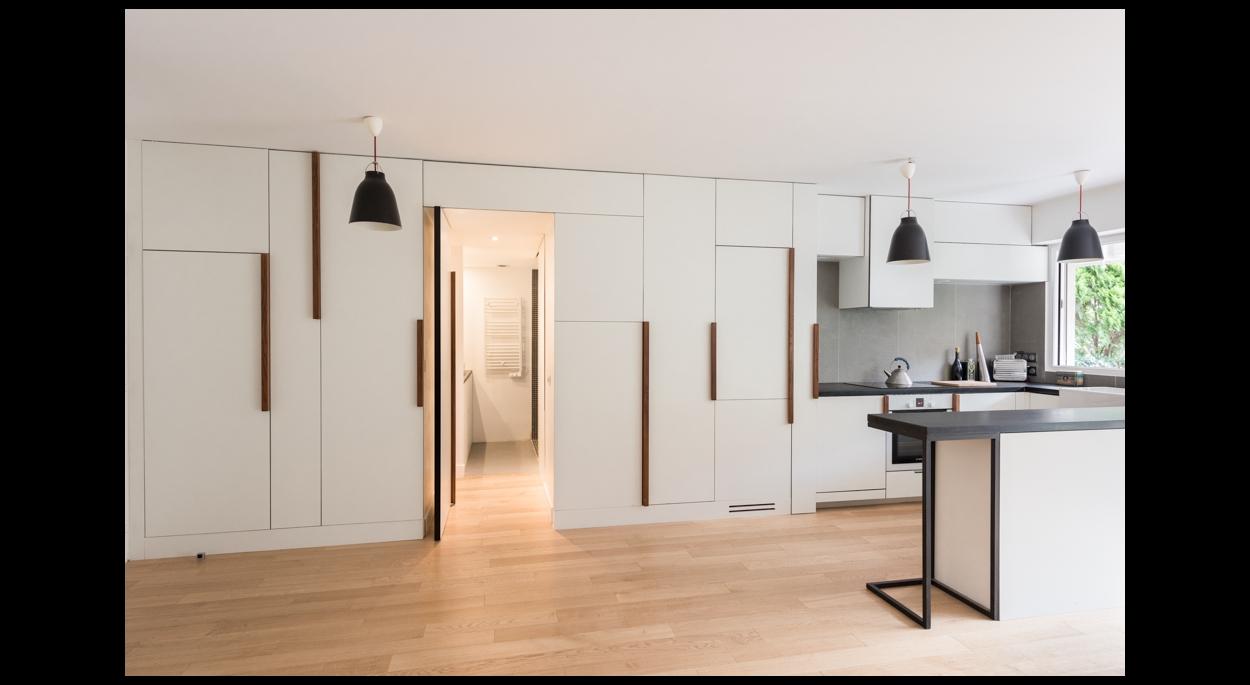 Rénovation Appartement Architecture Design Meuble bois acier sur mesure