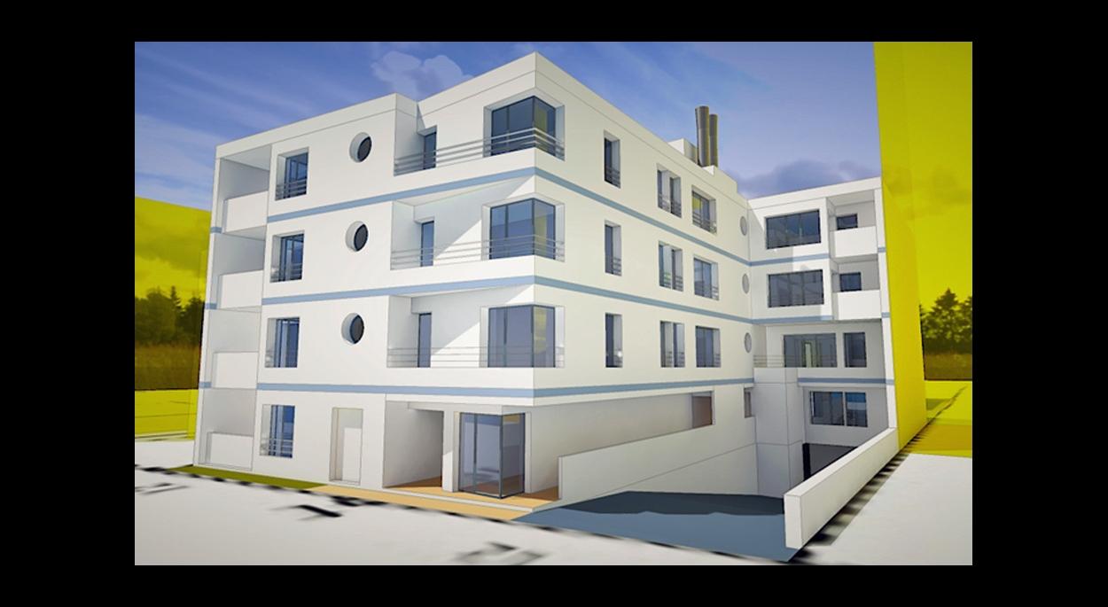 MALAMUCEANU - L'ILE-SAINT-DENIS : 19 appartements - Perspective