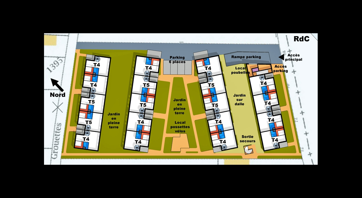 MALAMUCEANU - VALENTON : 19 maisons - Etude de faisabilité - RdC